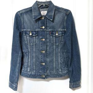 Levi's Ex-Boyfriend Trucker Jacket Medium Wash XS